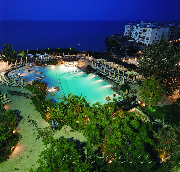Jasmine Court Hotel Pool At Night